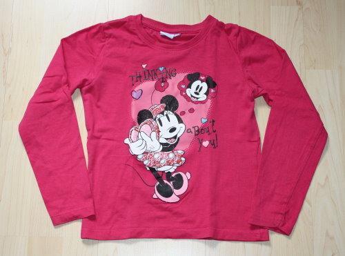 Disney Minnie Mouse Kinder Pullover Longsleeve Mädchen Sweatshirt Langarmshirt Pulli Maus pink Gr. 122