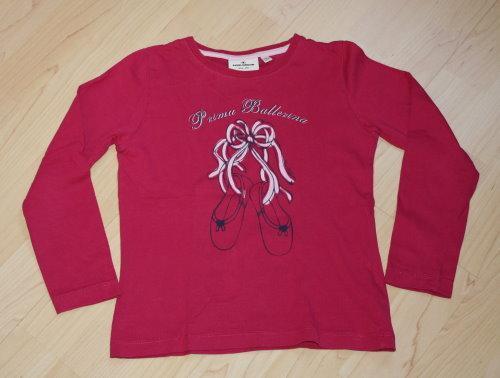 Tom Tailor Mädchen Pullover Longsleeve Kinder Sweatshirt Langarmshirt Ballerina Pulli pink Gr. 116/122 NEU