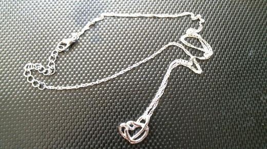 925 Silber Halskette Venezianer und 925 Anhänger 2 Herzen Feine 48 cm lange Silberkette imVenezianerstyle und 2 ineinanderverschlungene Silberherzen,gestempelt