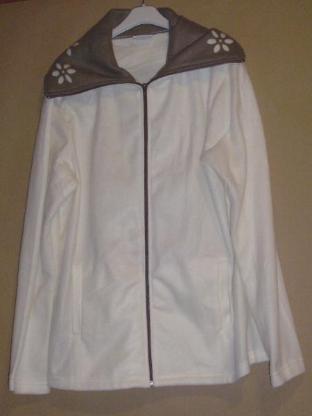 LBVYR Damen Jacke Gr. 40 42 L XL flauschig Fleecejacke länge 68cm - 133