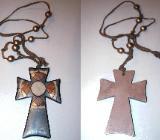 elegantes Holzkreuz, Halskette, Kreuz, Kette, Ethno - Style... - 142 - Bad Krozingen