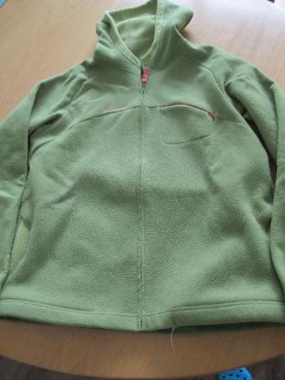 dicke, grüne Quechua Fleecejacke