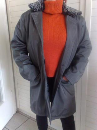 Damen Mantel, Kragen abnehmbar