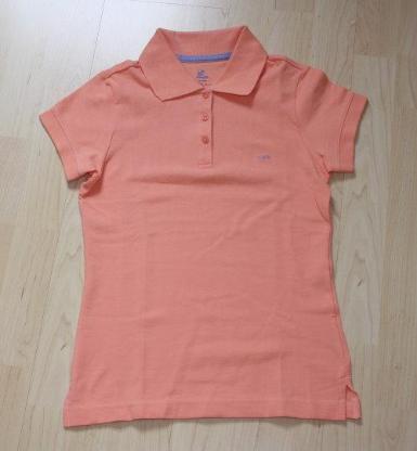 Mädchen Poloshirt Kinder Polohemd T-Shirt Kurzarmshirt Baumwolle kurzärmelig rosa Gr. 152/158 NEU