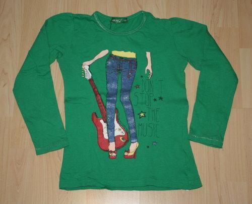 Mädchen Pullover Kinder Pulli Langarm Sweatshirt Glitzer Langarmshirt Longsleeve grün Gr. 122