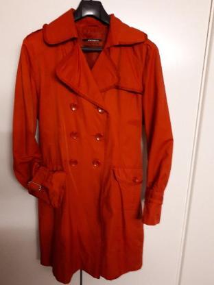 Trenchcoat, rot, Größe 38