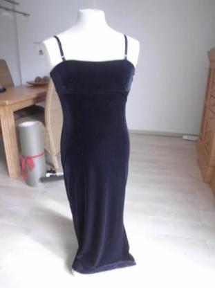 Abendkleid Kleid schwarz Gr. 38 Samt-Stoff C&A chic edel 9,-