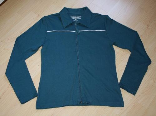 Damen Langarm Sweatjacke Strickjacke Sweater Sweatshirt Poloshirt Shirtjacke langärmelig petrol Gr. 40 (M) NEU