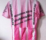 Radsport Trikot weiss/schwarz/rosa - Leverkusen