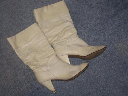 ♥ beige, Damen Leder Stiefel, Damenlederstiefel Größe 38/39 ♥