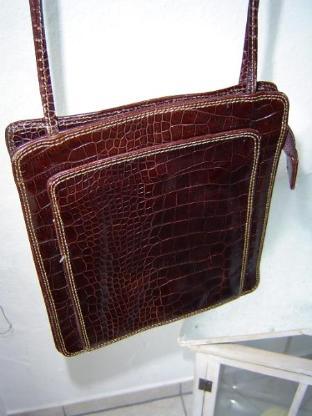 Francesco Biasia süße flache Damen Handtasche 21x24x5cm echt Leder - 296