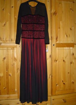 Joseph Ribkoff Kleid Festkleid Abendkleid Gr. 38 schwarz rot ungetragen - 312