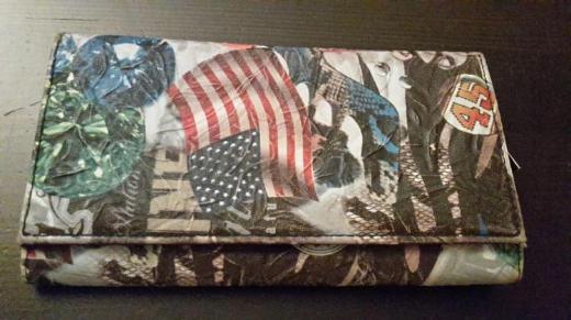 Kunstleder Portemonnaie mit amerikanischen Motiven