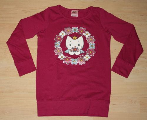 Angel Cat Sugar Mädchen Pullover Pulli Kinder Langarm Sweatshirt Longsleeve Langarmshirt pink Gr. 116 NEU