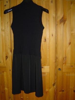 Astuces Made in France Kleid schwarz Gr. 176 Kleid Armlos Knielang – 490