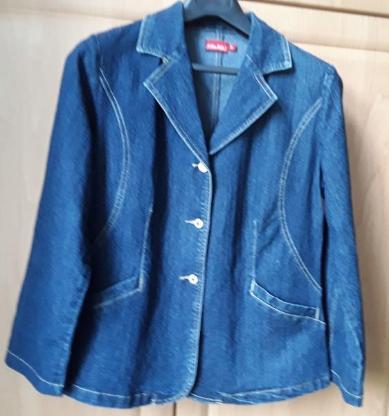 Damen-Jeans-Jacke, Größe M, blau