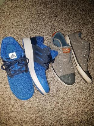 2 paar Schuhe von Adidas und s oliver Jeans hose
