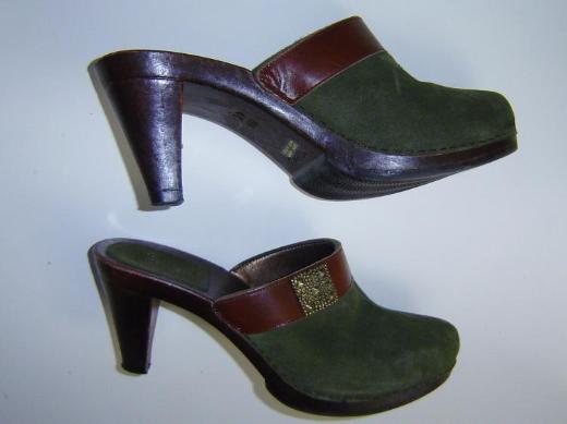 ITALIAN SHOEMARKERS Damen Pumps Pantoletten Clogs echt Leder Gr. 41 Absatz 9cm – 558