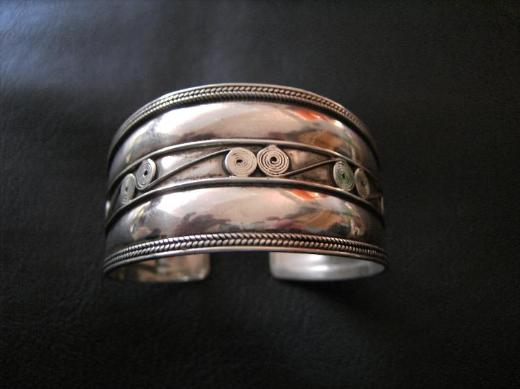 (925er Silber) Silberarmspange.