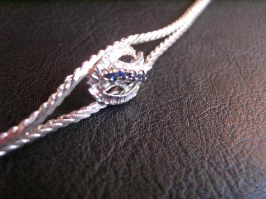 835er Silberarmband mit vier echten Steinen zu verkaufen !