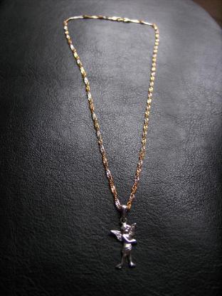 Halskette 333er Gold mit Engelanhänger 375er Gold!