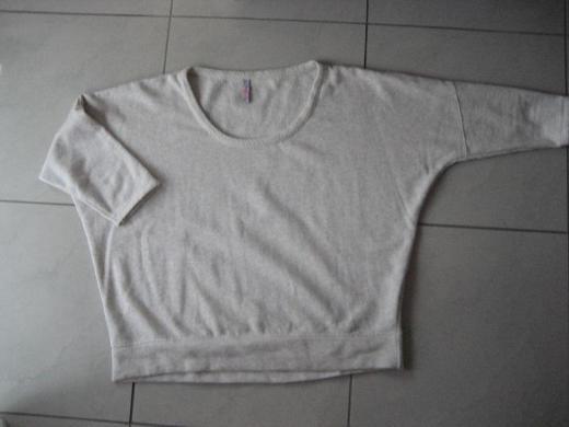 Kuzes Damen Sweatshirt,3/4 Arm, Natur, Gr. XL, Neu!!