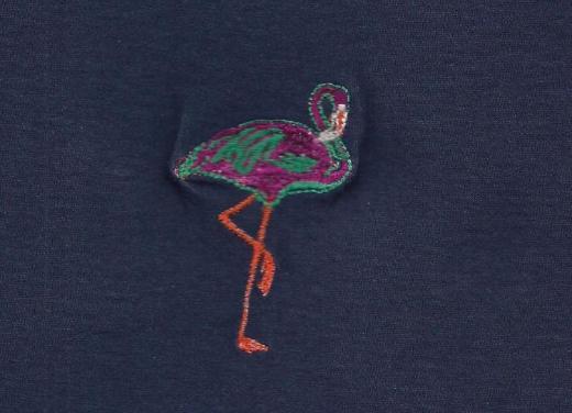 Vogel,Fisch,oder andere Tiere auf T-Shirt gestickt