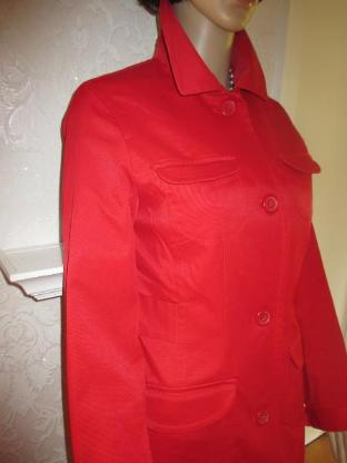 "NEU * Übergangs * Sommer * Trench Coat * Mantel * Long Jacke ""H&M"" Gr. 34- 36/ XS- S, rot *"