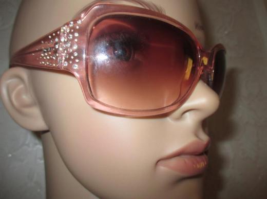 "NEU* Funkelnde * Swarovski * Strass * Kristalle * Glitzer Steinchen * Sonnenbrille * Sun Glasses ""Fossil"" rosè *"