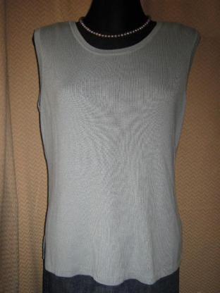 NEU* Edel, klassischer * Pullover ohne Arm ''AVANCE Creation'' Größe 40- 42/ M * blau- grau *