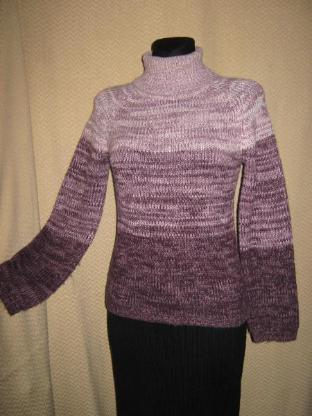 """Stylisch, ausgefallener Vintage Rollkragen- Pullover """"H&M"""" Gr. 34- 38/ XS- S, lila"""
