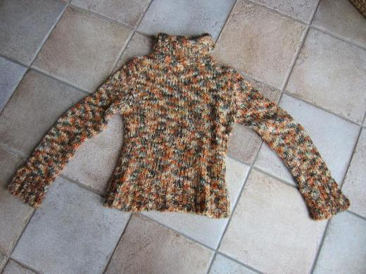 Damen Pullover orange gemustert Gr. 38 H&M