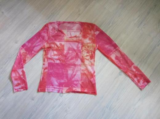 Damen Lang arm Shirt Rottöne Gr. L