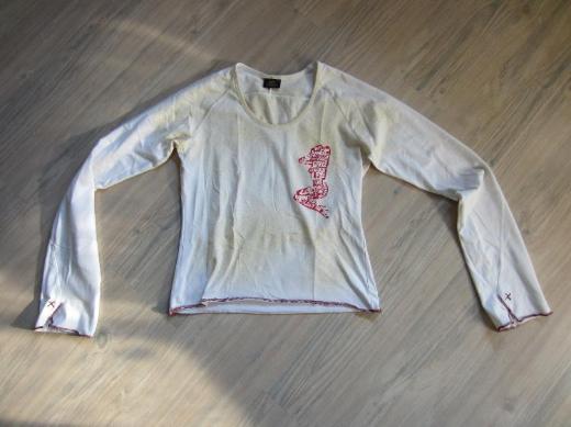 Damen Lang arm Shirt gelb/weiß in Gr. M von Lee