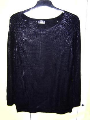 C&A Yessica Damen Pullover glanzgarn schwarz Gr. 42 – 473