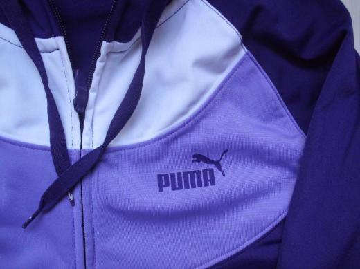 Puma Damen Kapuzen Sweatjacke Gr. 38 lila