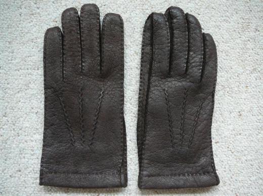 Verkaufe Damen Leder Handschuhe RSL dunkelbraun neuwertig ungetragen