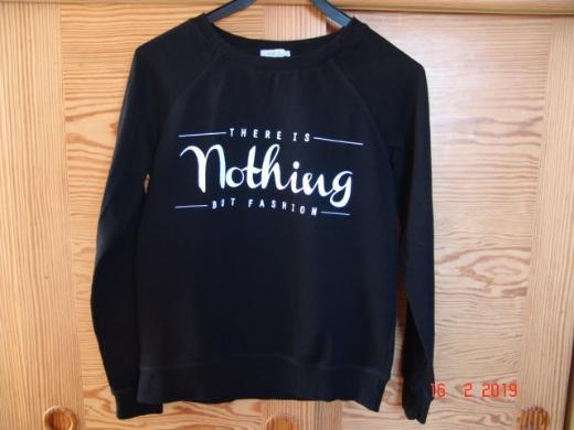 Amisu Sweatshirt Raglan schwarz Aufdruck - GR. S