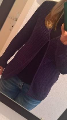 Lila Cardigan Strickjacke von Multiblu Jeans Fritz