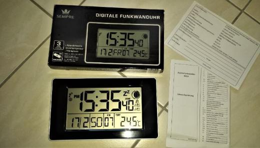 Funkwanduhr Tischuhr, Goße Zahlen, Temperaturanzeige
