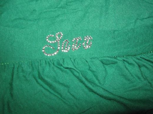 "NEU* Edles * Longsleeve * Langarm * Swarovski- Straß * T- Shirt ""Saxx"" Gr. 36- 38/ S, grün *"