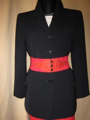 "NEU* Edler * Kostüm * Anzug * Long- Blazer Kurz-Mantel ""BIBA+pariscop"" by ESCADA * Gr. 36- 38/ S- M, dunkelblau *"