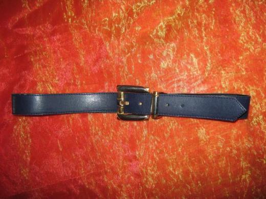NEU* Edler * Original * Vintage * Ethno * Gürtel * dunkelblau * mit Bicolor Schnalle * silber * gold *