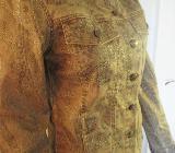 """NEU Sexy * Barock- Style * Jeans- Jacke im Glitzer Look """"BIBA by ESCADA"""" Gr. 34- 36/ XS- S * braun * - Riedlingen"""
