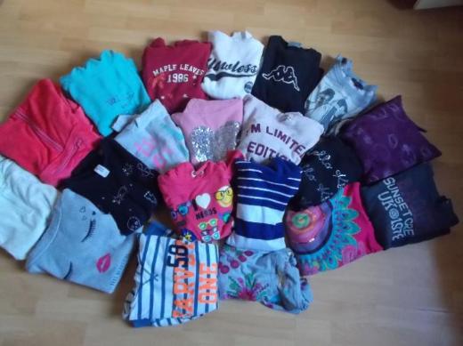 18 + 2 Fleece / Sweat Shirt Paket für Mädchen in 158 / 164