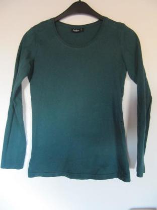 T-Shirt, dunkelgrün, langärmlig, Größe 36, neuwertig - Mülheim an der Ruhr