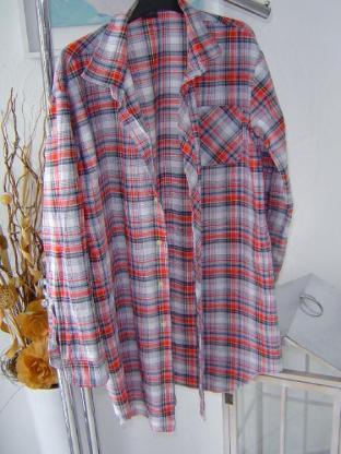 Damen Hemd Gr. 44, 46 kariert 89cm länge Hemdbluse lang long Pflegeleicht – 52