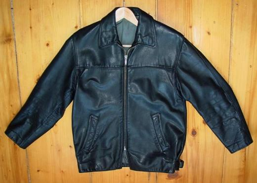 alte Lederjacke in sehr gutem Zustand 1950er 1960er 1970er Jahre Vintage Motorradjacke ähnl. Erdmann Grösse M 48