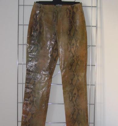 DINUOVO Lederhose Hose echtes Leder Schlangenleder Design Gr. 44 (I) 38 (CH) M L