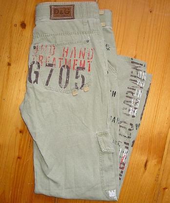 orig. Dolce & Gabbana Designer Jeans stylische Hose Gr. 34 48 50 D&G Cargo Style
